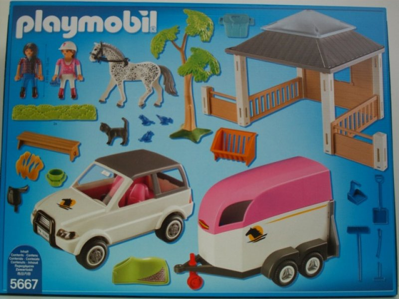 reitstall m pferdetransporter 4 10 jahre playmobil 5667. Black Bedroom Furniture Sets. Home Design Ideas